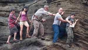 "Luis Guzman, Vanessa Hudgens, Michael Caine, Dwayne Johnson and Josh Hutcherson in a scene from ""Journey 2: The Mysterious Island."""