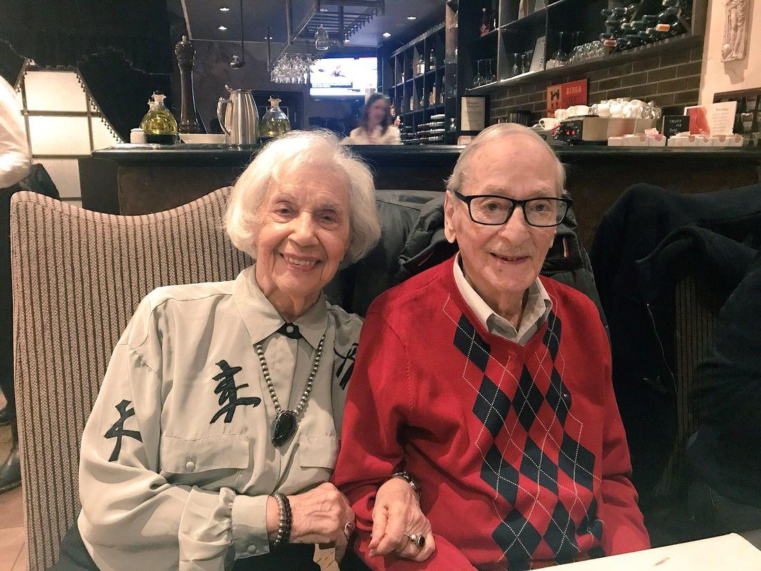 Bob and Bubby on Bob's 98th birthday
