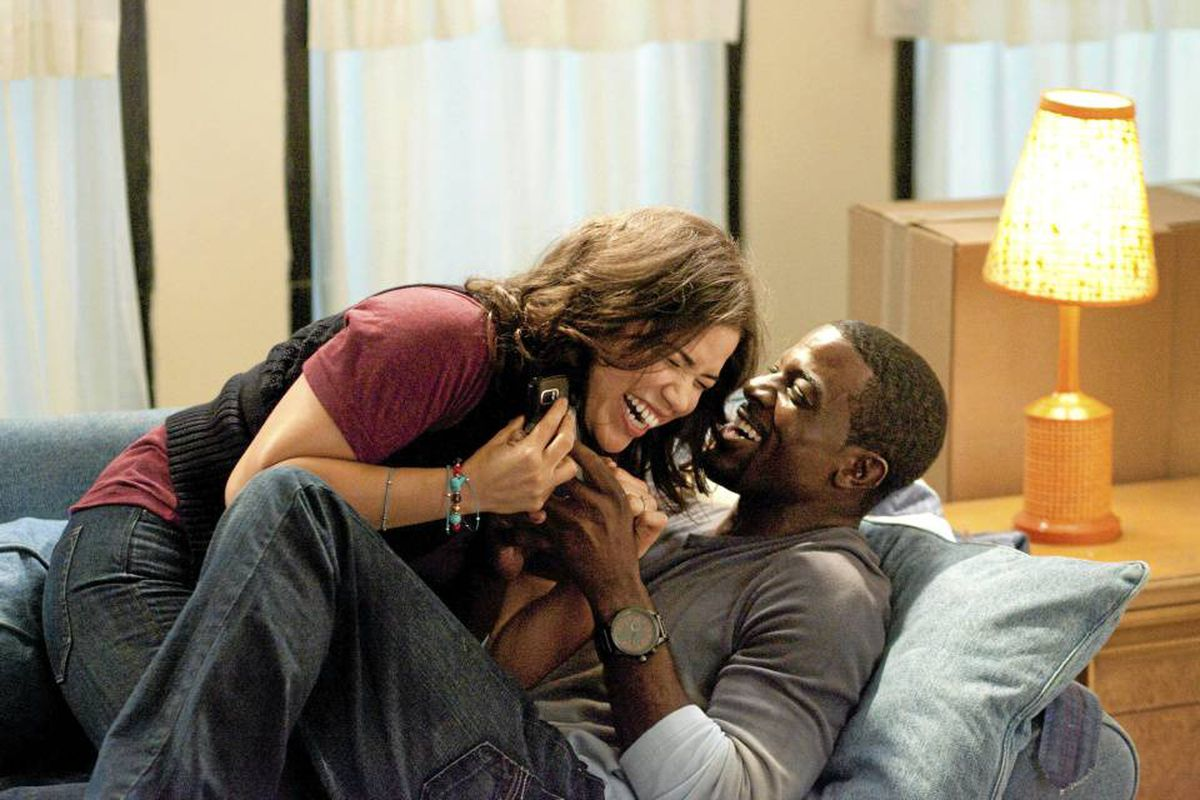 America Ferrera and Lance Gross in Our Family Wedding.