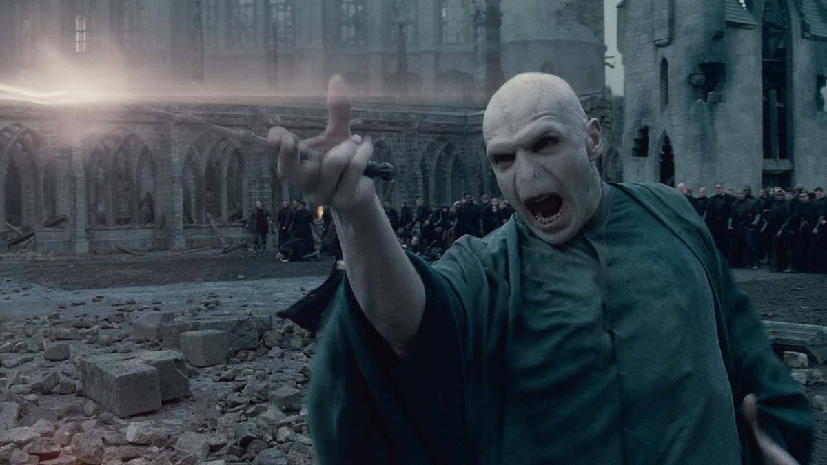 """Ralph Fiennes as Lord Voldemort in a scene from """"Harry Potter and the Deathly Hallows, Part 2"""""""