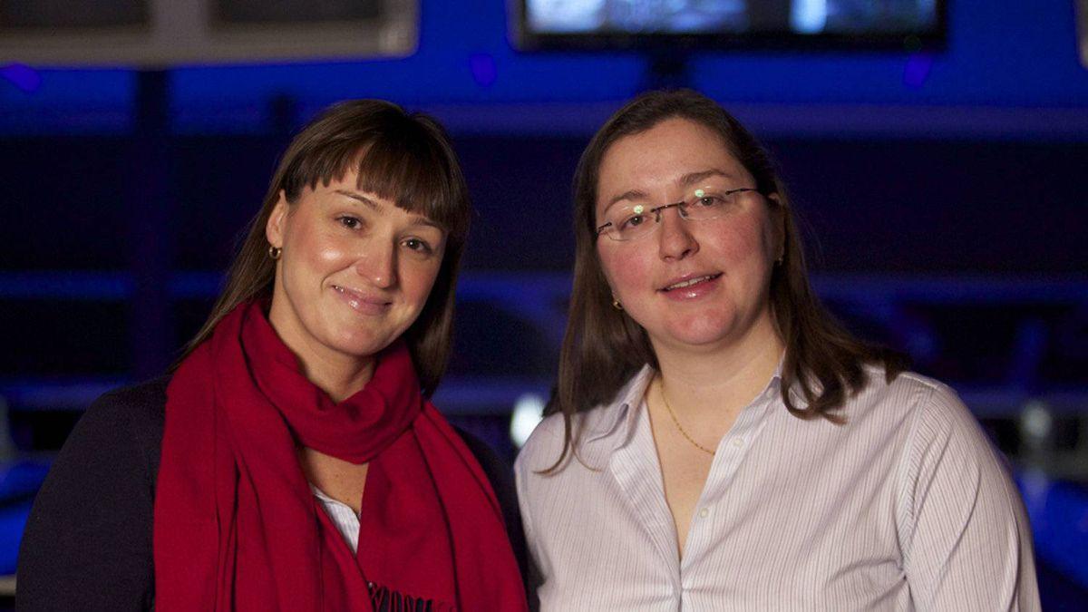 Branka anb Ljuba Nikolovski, co-owners of All Star Interactive bowling