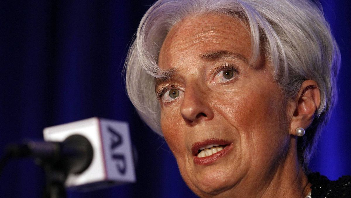 Christine Lagarde, director of the International Monetary Fund, says Europe's debt crisis is the biggest global risk currently.