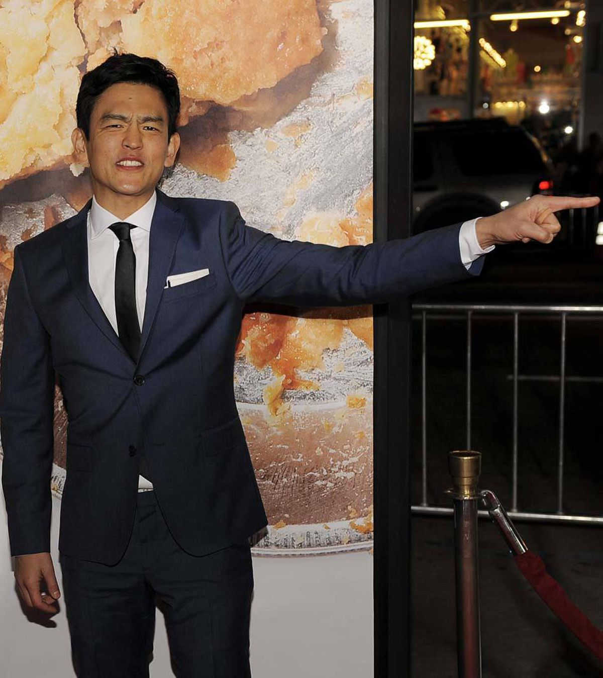 """Do not bother us here at the premiere of 'American Reunion' in Los Angeles on Monday!"" commands actor John Cho. ""Move on immediately!"""