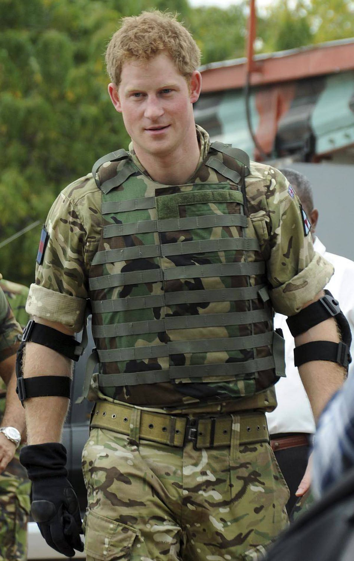 SOLDIER Britain's Prince Harry is seen after a target shooting practice at Jamaica Defense Force's Up Park Camp in Kingston, Jamaica, Wednesday, March 7, 2012.