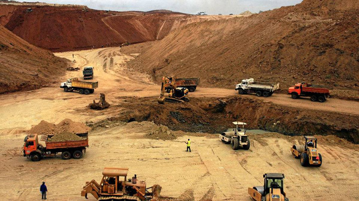 This photo taken on August 26, 2010 shows a construction site of Special Economic Zone (ZES), one of the most important in central Africa, in Nkok, near Libreville. Gabonese government hopes that ZES will relauch the wood business.