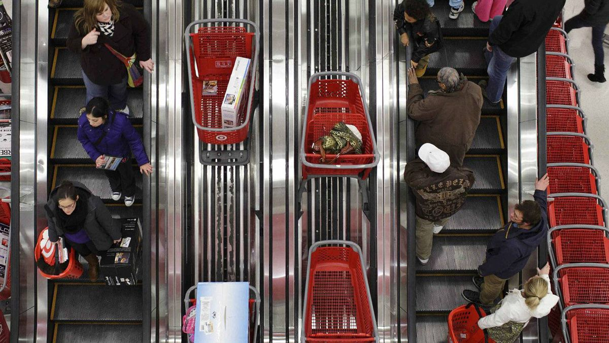 U.S. shoppers at a Target store in Chicago last Novemeber. For the first time in years, the economic news out of the U.S. is encouraging.