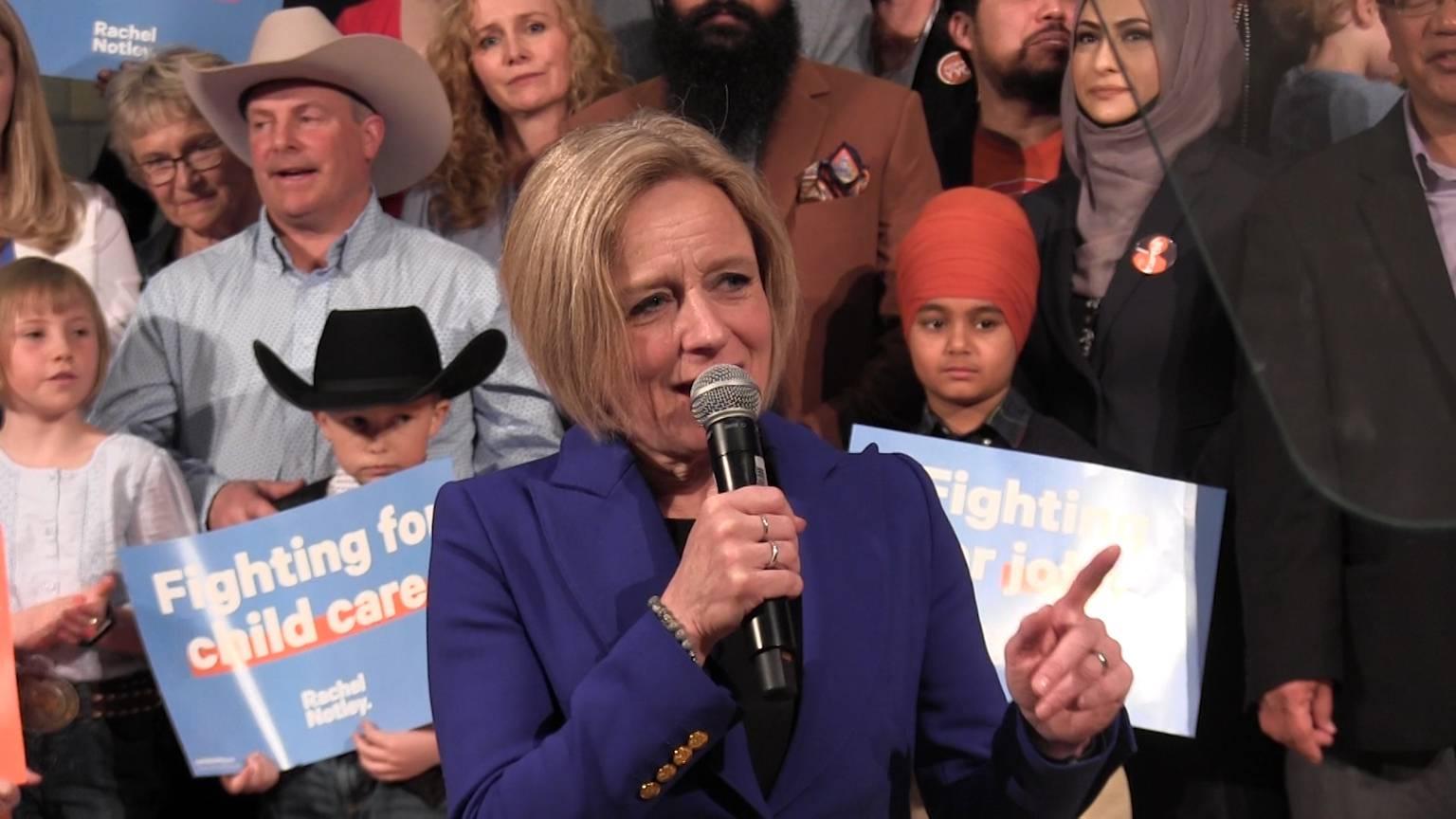 Alberta Premier Rachel Notley calls election April 16