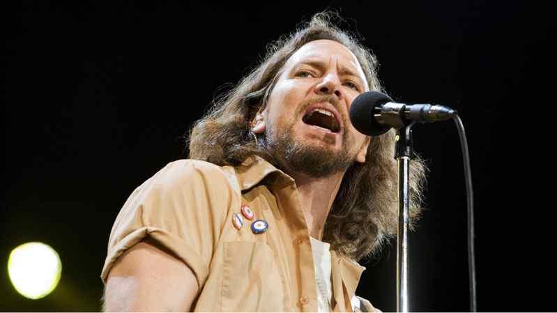 Eddie Vedder performs with Pearl Jam