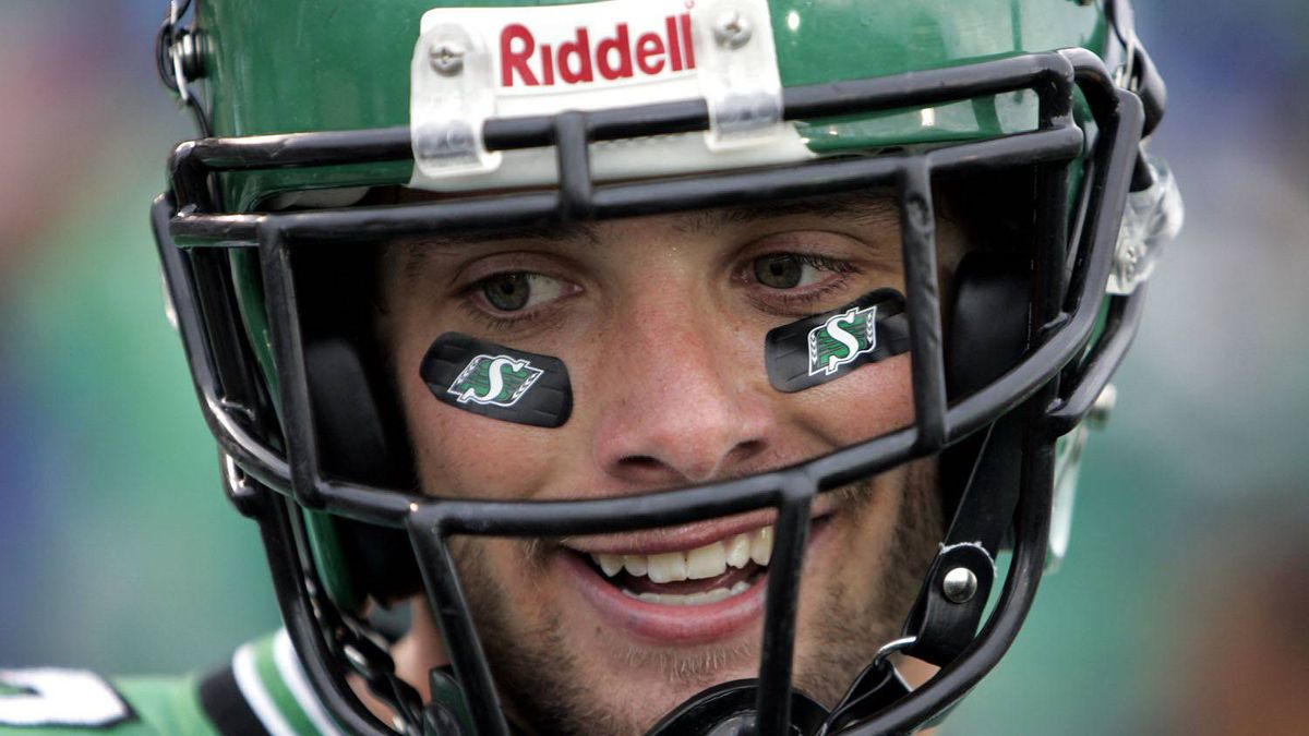 Saskatchewan Roughriders' Andy Fantuz is among several CFLers hoping to make the grade in the NFL. (CP PHOTO/Troy Fleece)