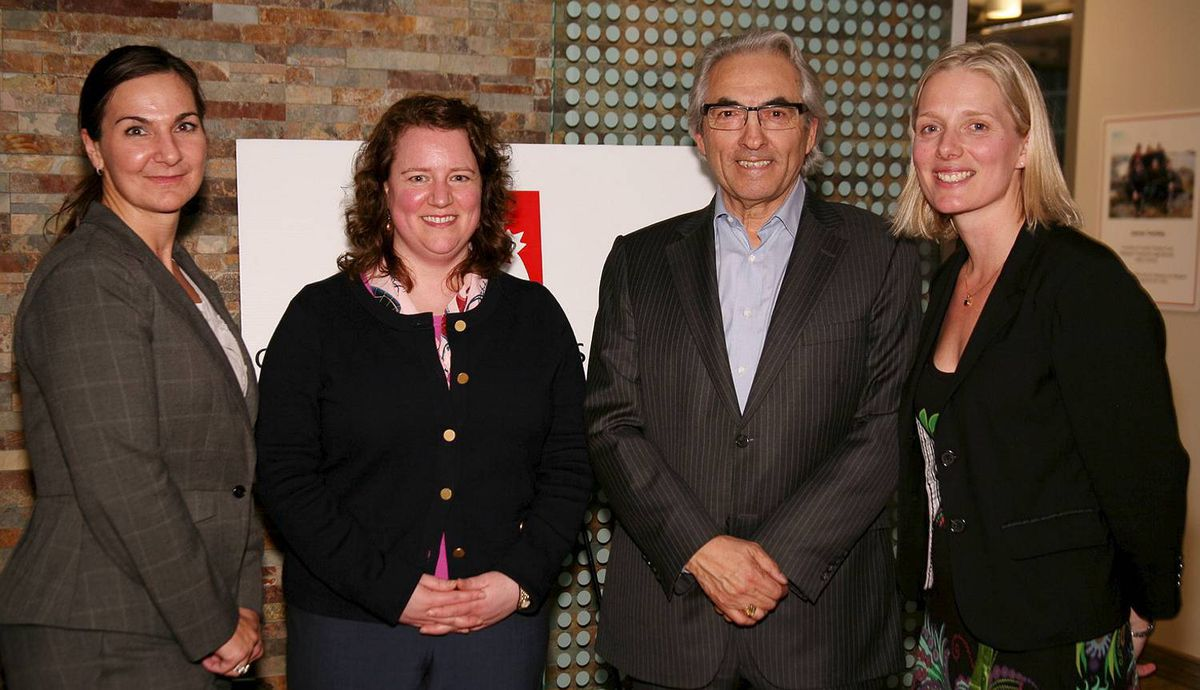 Susan Spence (Senior Counsel GE Capital), Jen Guerard (Senior Counsel GE Capital), Phil Fontaine (Former National Chief of AFN and Royal Bank advisor), Catherine McKenna (Executive Director of CLA)