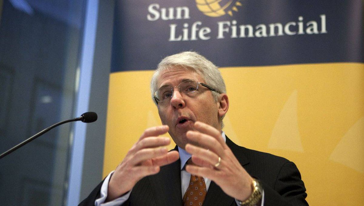 Sun Life Financial CEO Dean Connor, speaks to the media during a press conference at the company's Toronto office on Thursday, March 8, 2012.