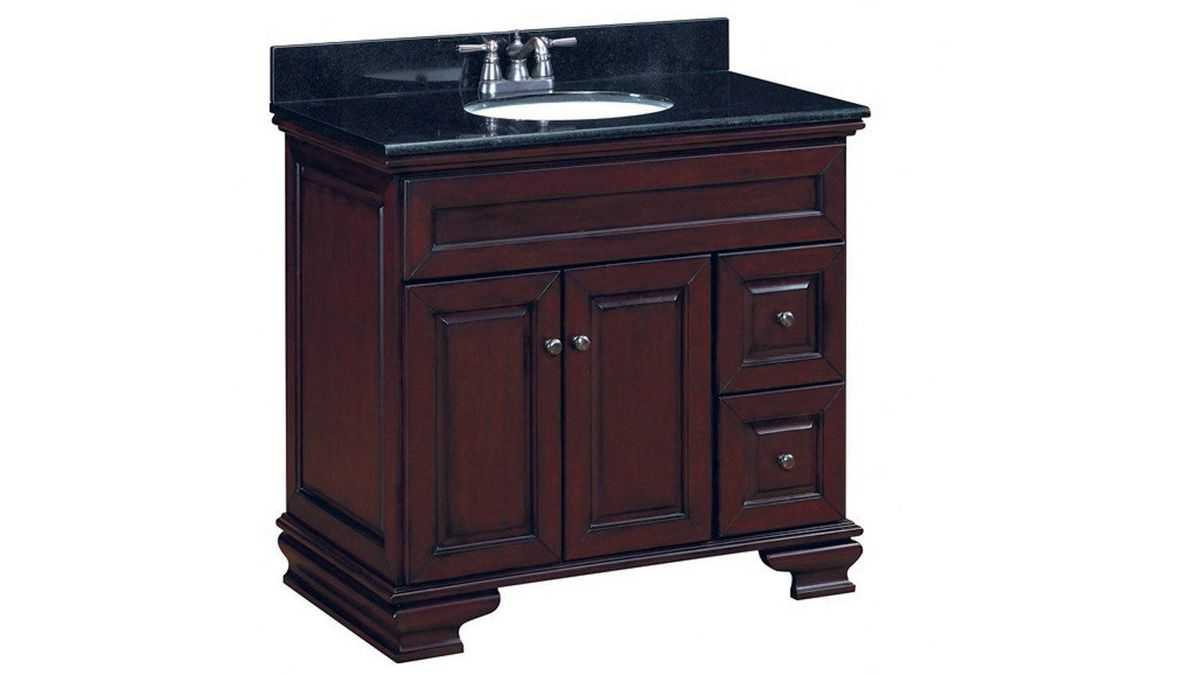 Made of solid-wood frames and wood-veneer components, Sears' Richview vanity features two doors, two drawers and decorative Queen Anne ogee bracket front feet. $799.99 at Sears (www.sears.ca).