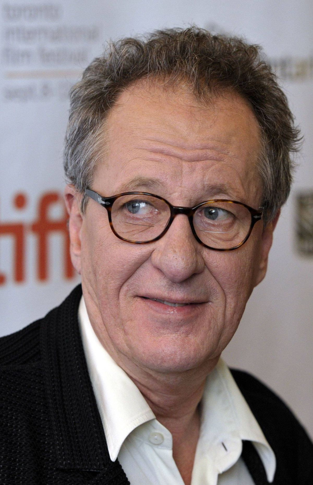 "Geoffrey Rush poses at the gala presentation for the film ""The Eye of The Storm"" at the 36th Toronto International Film Festival September 11, 2011."
