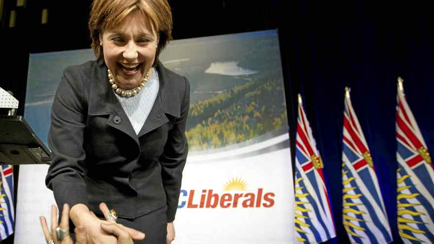 Premier designate Christy Clark at a the B.C. Liberal Convention in Vancouver after winning the Liberal Leadership election February 26, 2011.