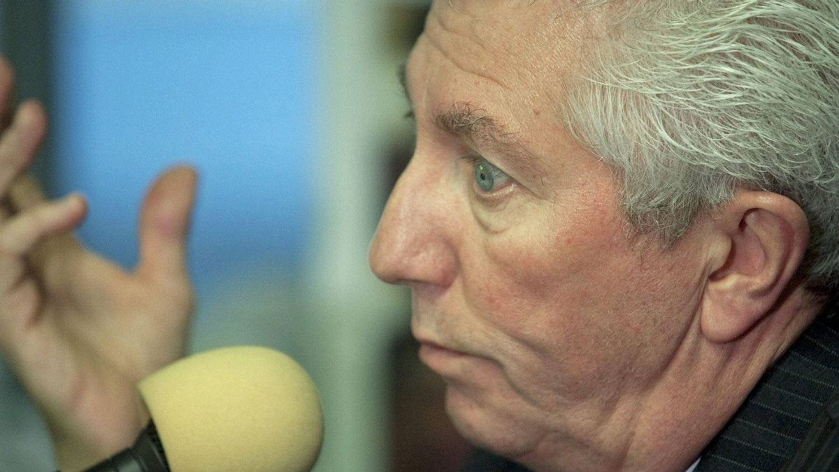 Bloc Quebecois Leader Gilles Duceppe gives a morning radio interview on April 28, 2011, in Riviere-du-Loup, Que.