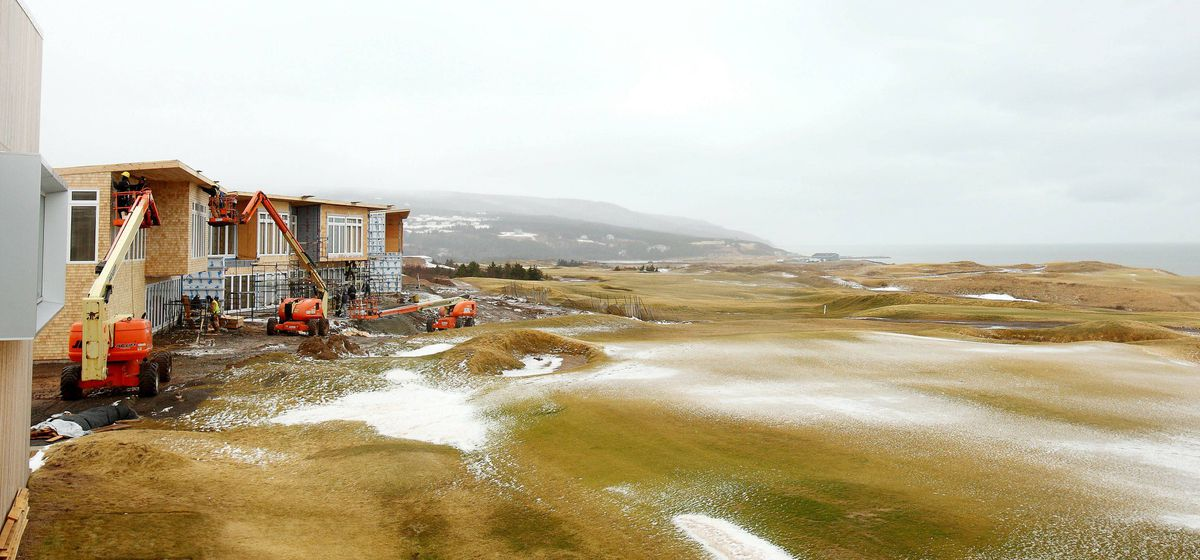 Construction continues on the chalets at the Cabot Links in Inverness, NS , March 26, 2012.