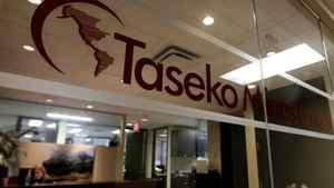 The offices of Taseko Mines Ltd. in Vancouver.