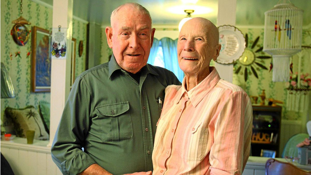Allen and Violet Large, of Lower Truro, N.S.. The couple donated their multi-million dollar lottery winnings to charities.