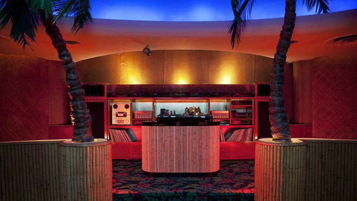 Cultural activities are an important focus at Vancouver's Waldorf Hotel, which opened last fall. The hotel includes two restaurants, two music venues, and a tiki bar (shown).