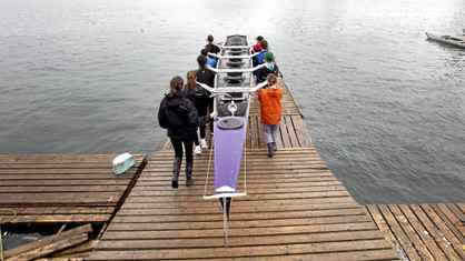 Students take part in the TDSB rowing program at the Bayside Rowing Club on April 27, 2011.
