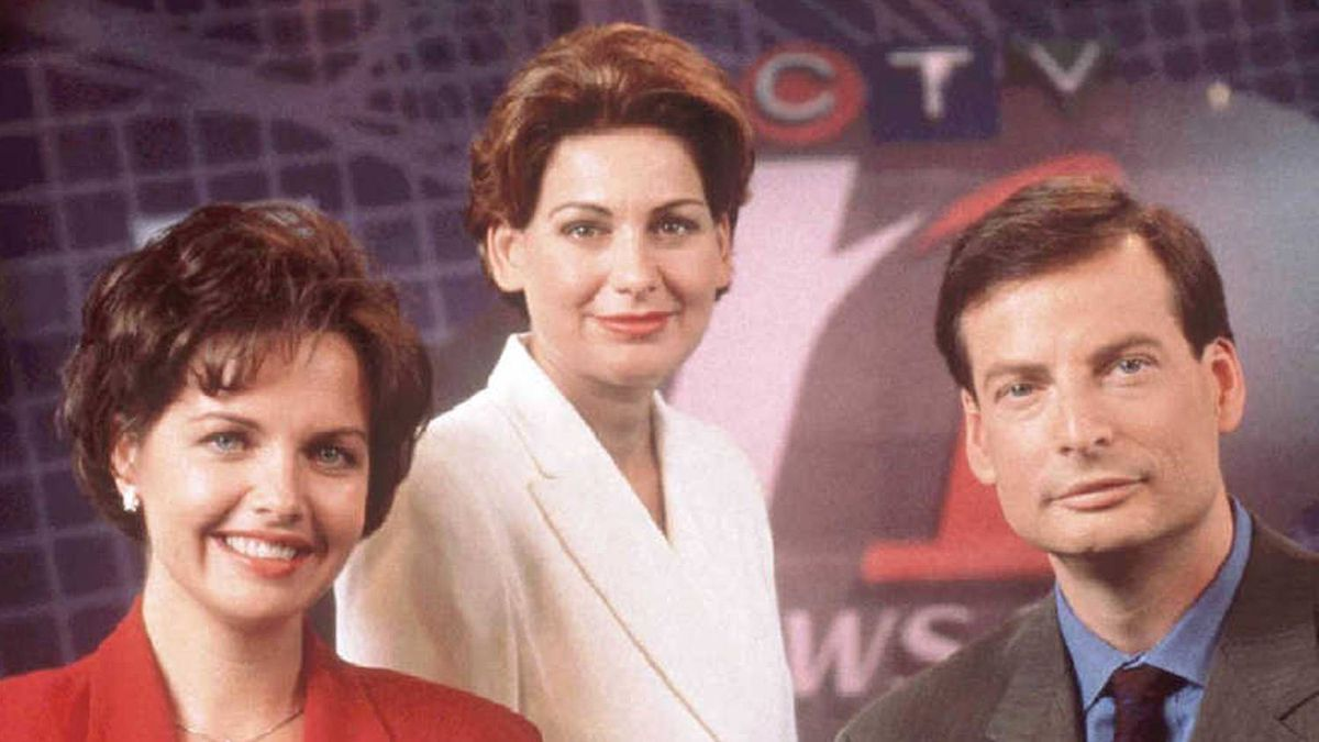 Global National's new anchor Dawna Friesen, picture left in this 1997 photo with former CTV News 1 all news channel co-anchors Lisa LaFlamme and Dana Lewis.