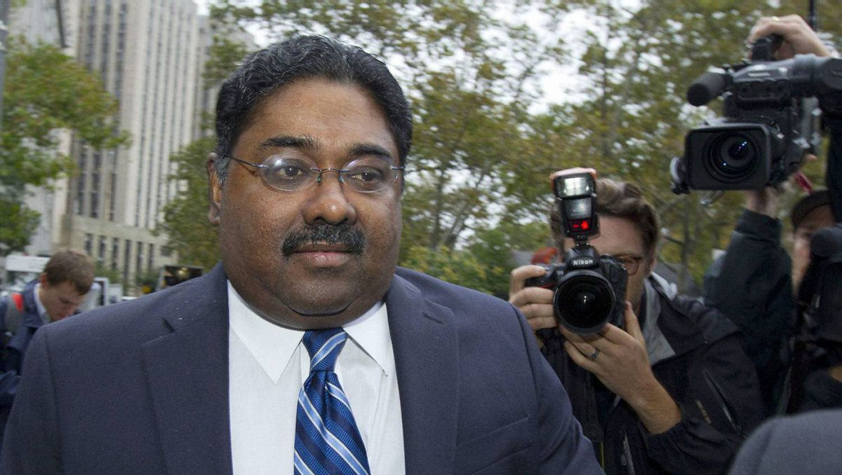 Raj Rajaratnam, co-founder of Galleon Group LLC, arrives at Federal Court for sentencing on Oct. 13, 2011 in New York.