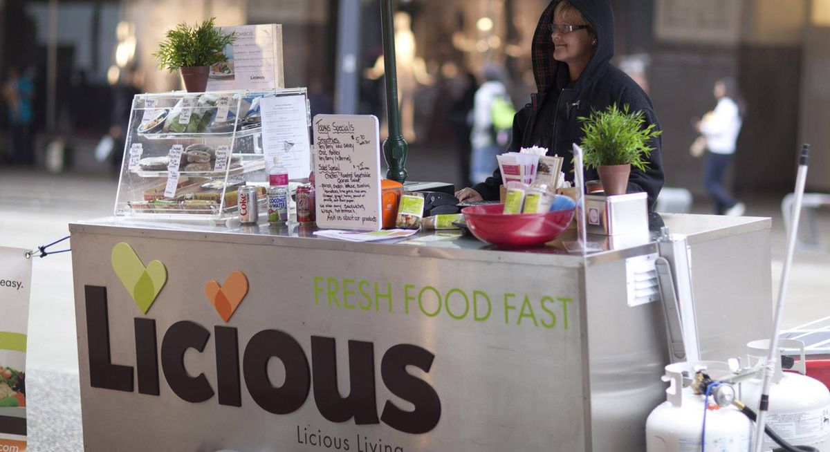 Licious food cart in Vancouver September 23, 2010. West side of 600 Granville @ Georgia St.