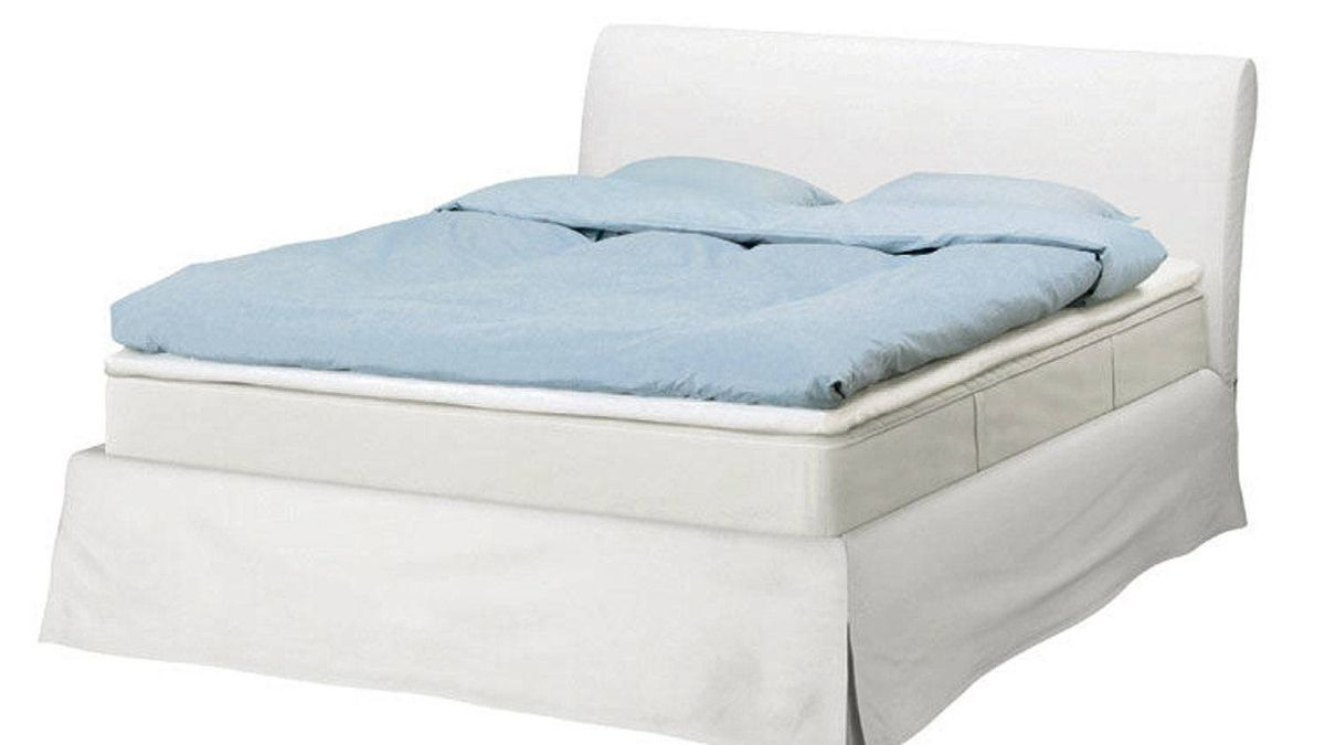 IKEA 's Vanvik bed frame is an inexpensive take on the upholstered look, featuring a removable, machine-washable cover for easy maintenance. From $399 through www.ikea.ca.