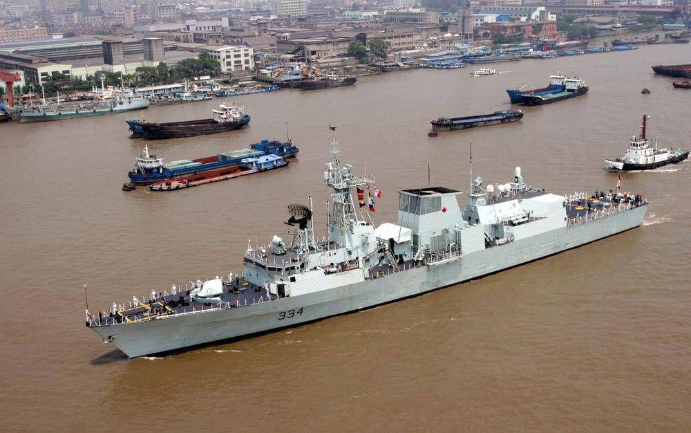 Canadian warship sails through Taiwan Strait