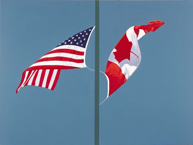 This Painting Side By Toronto Artist Charles Pachter Became A Symbol Of Canada U S Solidarity In The Fall 2001 I Painted It Two Months After