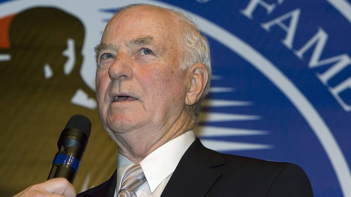 Dick Duff, seen here in 2006 for his Hockey Hall of Fame induction, coached the Toronto Maple Leafs for only two games in 1980.