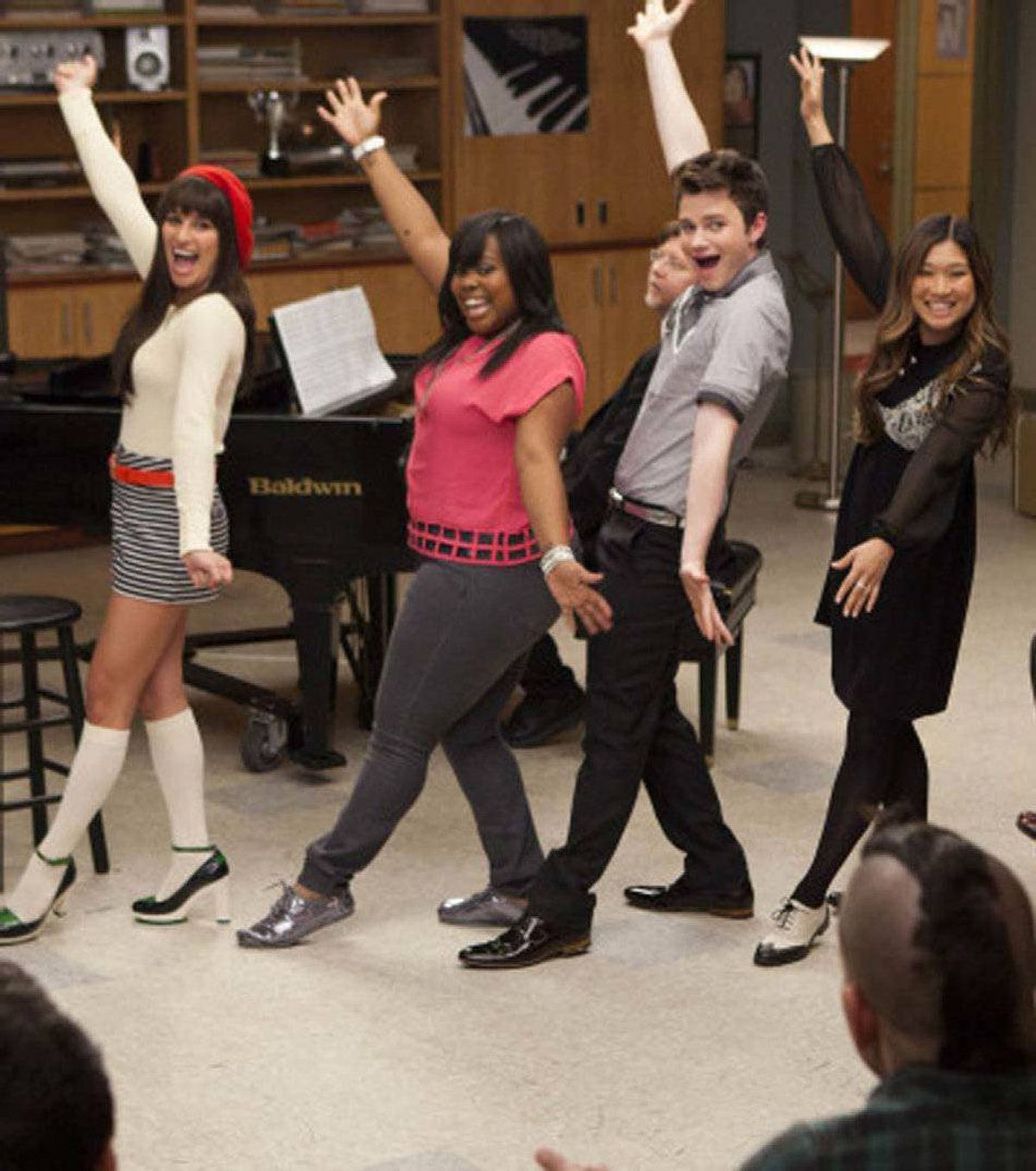 """DRAMA Glee Fox, Global, 9 p.m. ET/PT Well, the glee club had to finish high school eventually, right? Tonight's third-season finale brings graduation day at McKinley High and we should expect that several cast regulars won't be around when Glee returns for its fourth season next September. Amber Riley, who plays Mercedes, has already confirmed she's not coming back. Spunky regular Dianna Agron (Quinn) has also hinted at new opportunities. And it's a safe bet Canadian-born Cory Monteith, who plays Finn, won't be back, considering he recently turned 30. In a recent interview with E! Online, series regular Lea Michele, who plays Rachel, confirmed the show will follow several characters as they enroll at the fictional New York Academy of Dramatic Arts next season (so long, Kurt) and tonight's finale will feature a """"big cliffhanger"""" for her character and sweetheart Finn."""