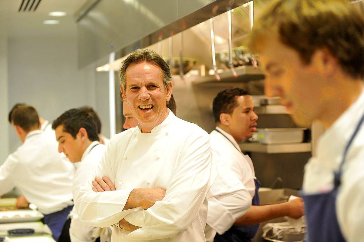 'Cooking is a process,' Thomas Keller says. His new Ad Hoc at Home is not a quick mealtime solution cookbook, he adds: 'Each thing is a process and we didn't compromise the process  of the cooking for time.'