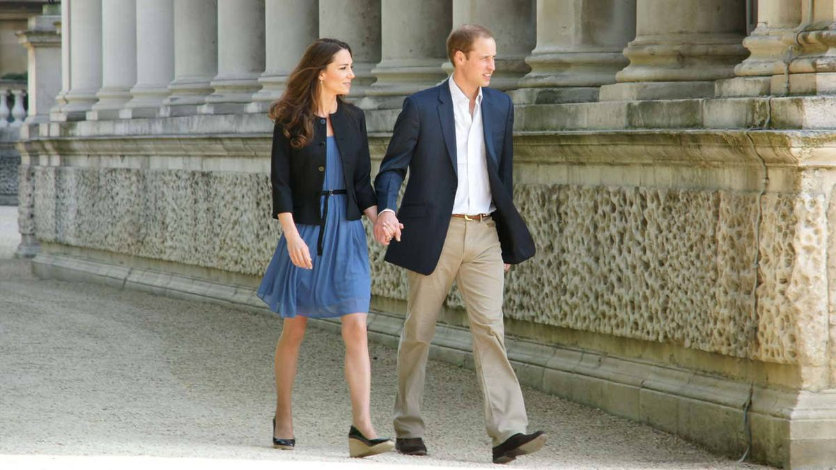 The newly minted Duke and Duchess of Cambridge leave Buckingham Palace Saturday morning, destination unknown. The photo was released by the palace.