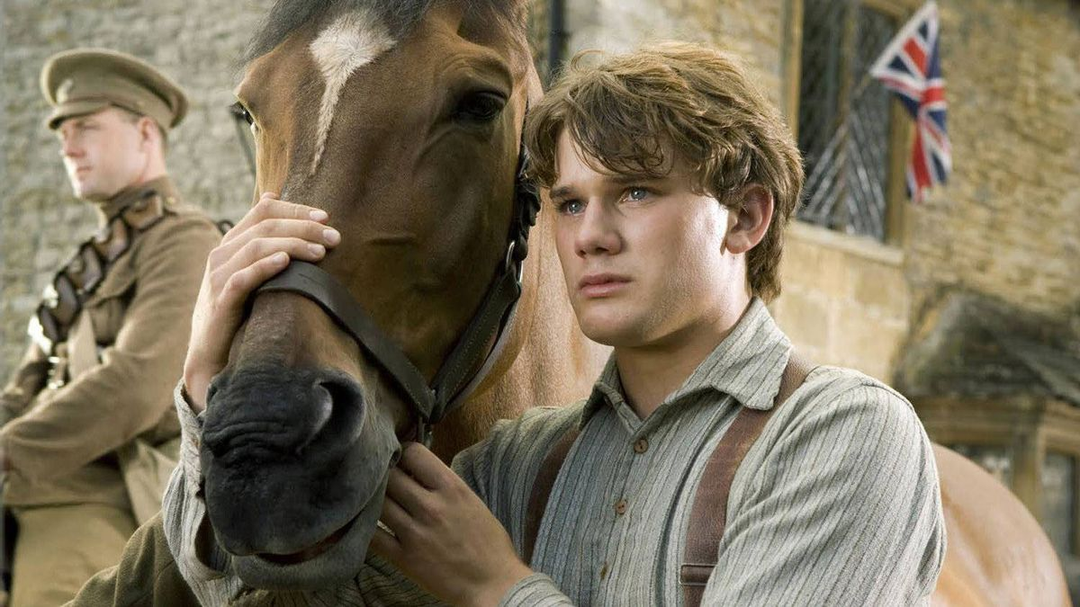 """Albert (Jeremy Irvine) and his horse Joey are featured in this scene from DreamWorks Pictures' """"War Horse."""""""