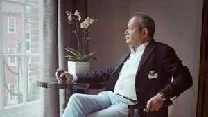 Egyptian business man and multi billionaire Naguib Sawris at Claridge's in London.