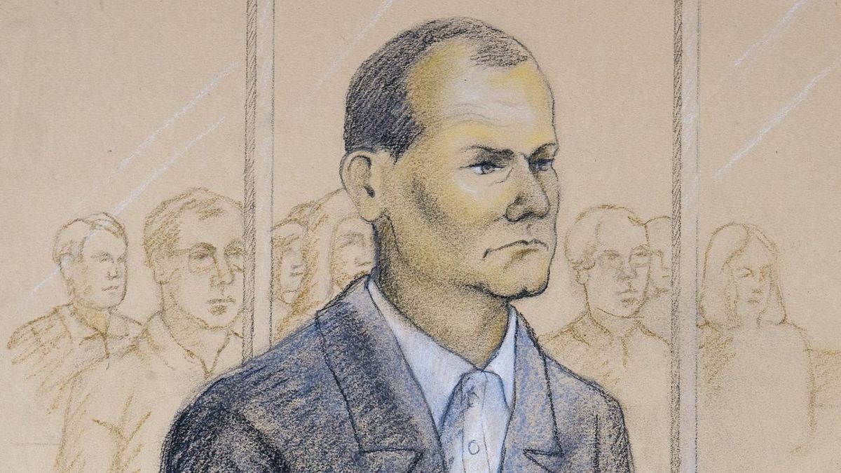 Col. Russell Williams, who was the commander of CFB Trenton, Canada's largest military airbase, is shown in a sketch as he appears in court in Belleville, Ont., on Monday, October. 18, 2010