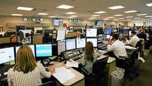 Traders on CIBC trading floor.