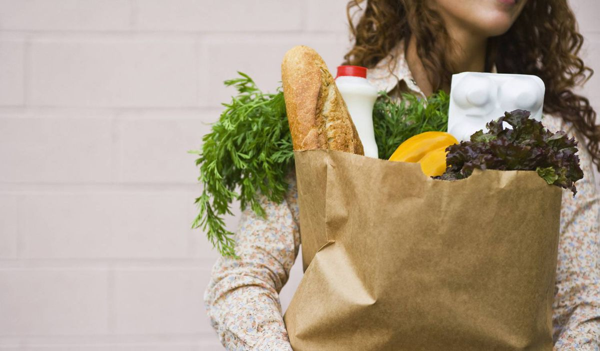 Sales of groceries in Britain are not keeping pace with inflation as shoppers cut back in austerity climate.