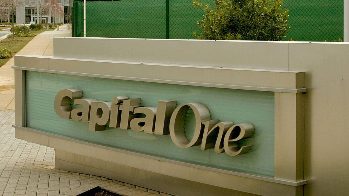 The Capital One headquarters is shown March 13, 2006 in Mclean, Virginia.