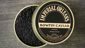 Bowfin caviar, locally harvested in the Gulf Coast.