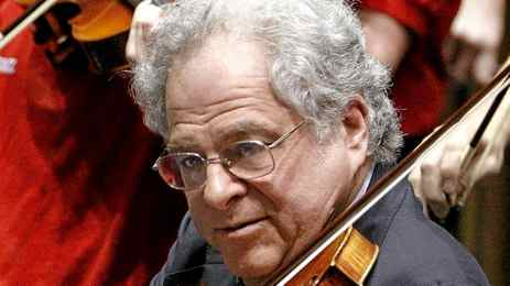Violin virtuoso Itzhak Perlman performs the during the 100th anniversary celebration of Arizona's statehood, Tuesday, Feb. 14, 2012, at the Capitol in Phoneix.