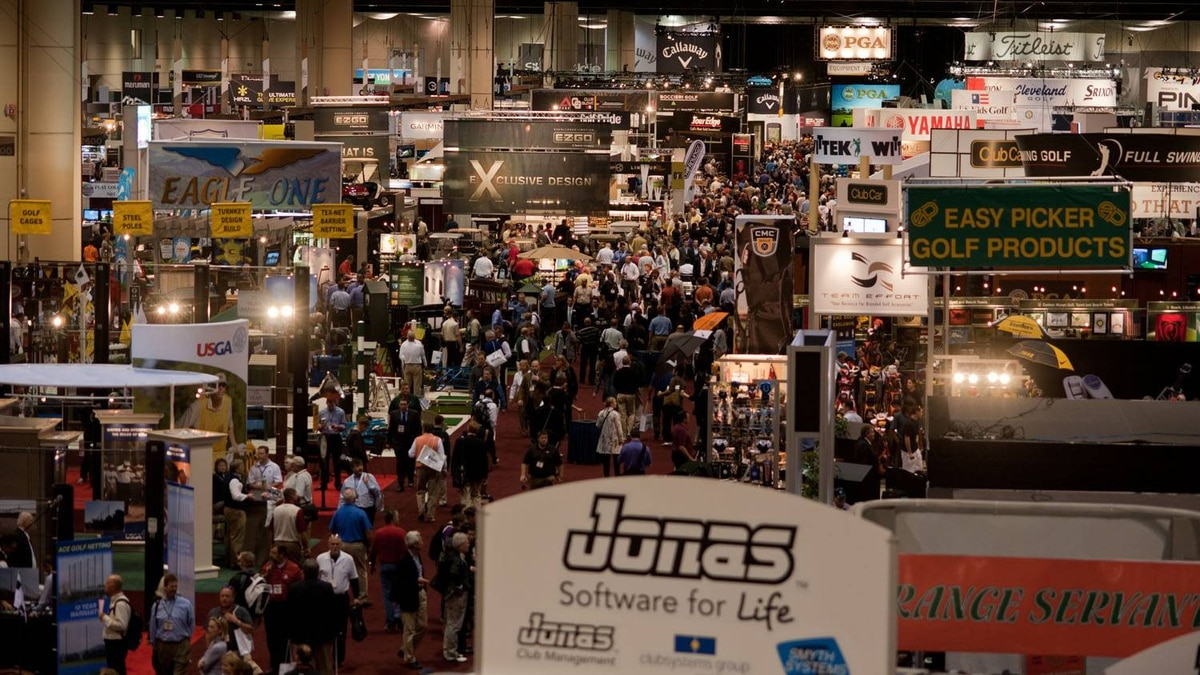 PGA Merchandise Show convention floor
