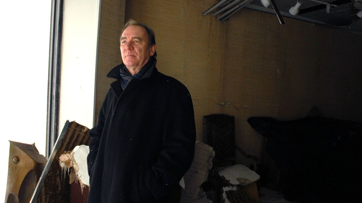 Jean-Pierre Valentin, owner of Galerie Jean-Pierre Valentin in what is left of his gallery in Montreal, Feb. 2, 2011.