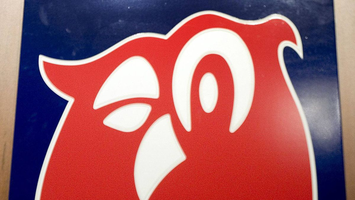 The logo of Alimentation Couche-Tard Inc. in Laval, Quebec September 6, 2006.