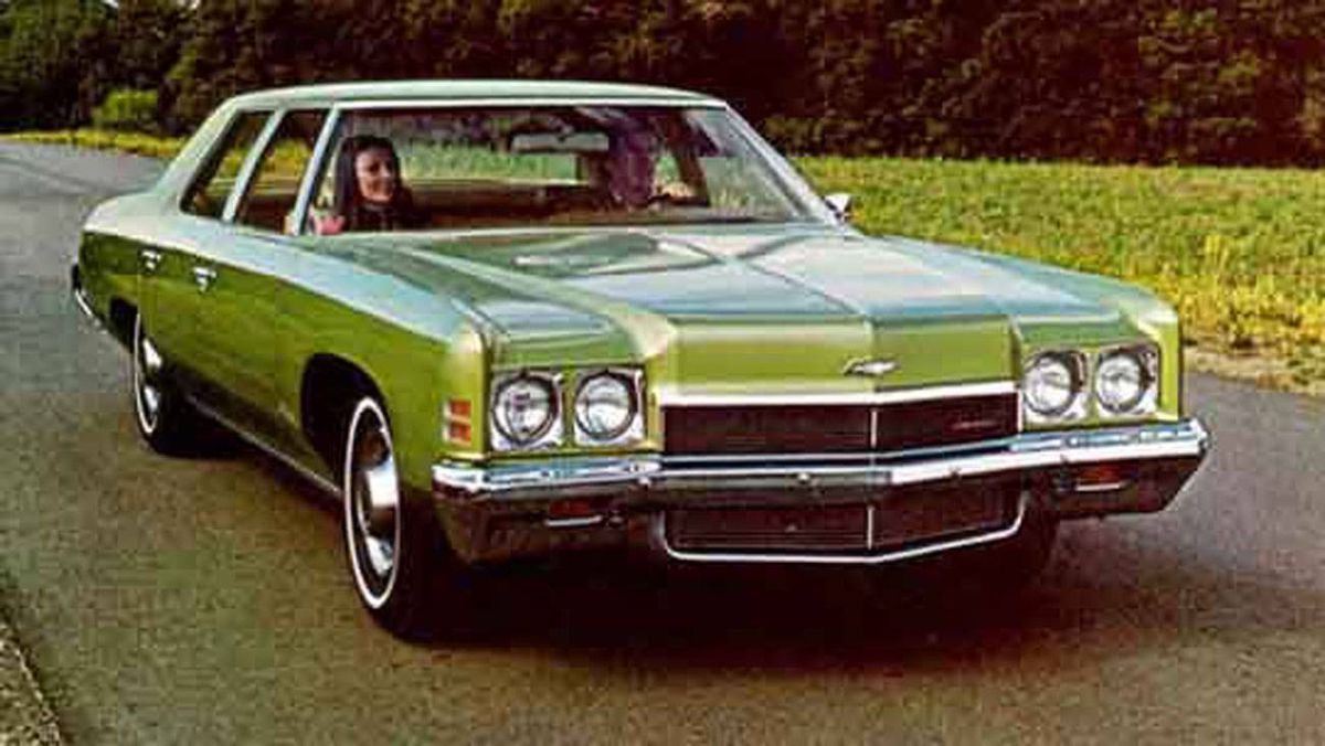 1972 Chevrolet: I got this car from the old man when he got a company car in '79. Nice green colour. Yechhh!