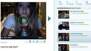 Is the future of social media more rapping videos on services like Keek from young people like sarahjenkinsxo, or perhaps something with a little more depth?