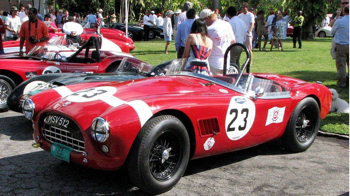 One of the best looking and rarest British sports cars of the 50s on display at the Speed Week concours was this AC Bristol, powered by a six-cylinder engine with pre-war BMW roots.