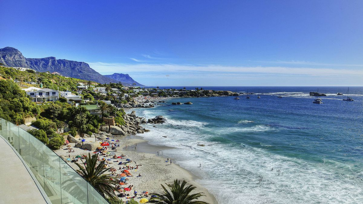 With views of Cape Town's Table Mountain, the Molori Clifton villas perch above the fine white sands of Clifton Beach.