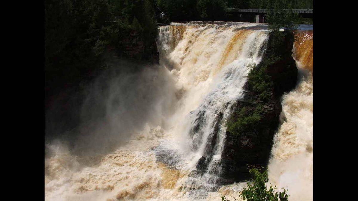 The Kaminisitiquia River at Kakabeka Falls near Thunder Bay, June 2008